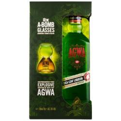 AGWA de Bolivia im Geschenkset mit 2 Gläsern 0,7 Liter