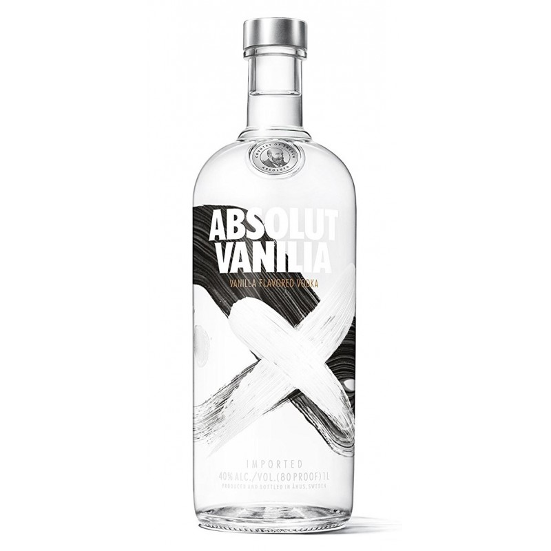 absolut vodka vanilla 1 0 liter bei premium rum online. Black Bedroom Furniture Sets. Home Design Ideas