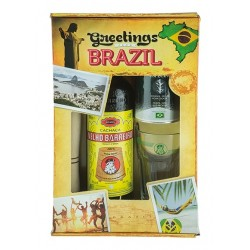 "VELHO BARREIRO Caipirinha-Set ""Greetings from Brazil"" Cachaça 700ml"