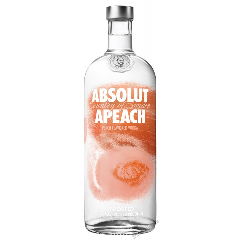 absolut vodka apeach 1 0 liter bei premium rum online. Black Bedroom Furniture Sets. Home Design Ideas