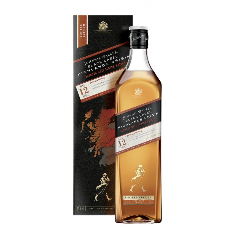 Johnnie Walker BLACK LABEL 12 Years Old HIGHLAND ORIGIN Limited Edition 42% Vol. 0,7 Liter hier bestellen.