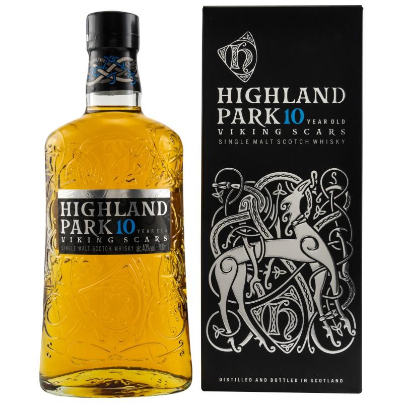 Highland Park 10 Years Old VIKING SCARS Single Malt Scotch Whisky 40%  0,7 Liter  hier bestellen.