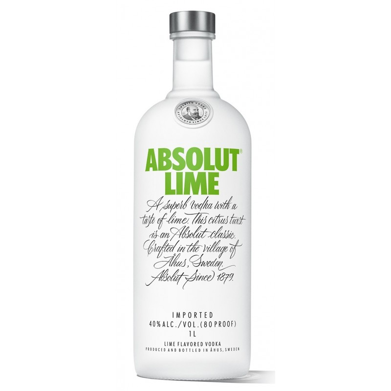 absolut vodka lime 1 0 liter bei premium rum online bestellen. Black Bedroom Furniture Sets. Home Design Ideas