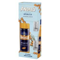 Andalö Original Sanddorn Liqueur 0,7 Liter Geschenkset mit 2 Gläsern bei Premium-Rum.de