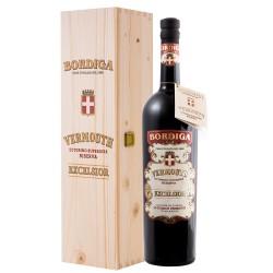Bordiga Vermouth di Torino Excelsior Riserva Superiore 18% Vol. 1,5 Liter Magnum Holzkiste bei Premium-Rum.de bestellen.