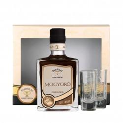Panyolai Mystic Haselnusslikör / Misztikum Mogyoro in Geschenkverpackung mit 2 Gläsern 30% Vol. 0,5 Liter
