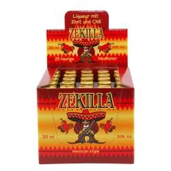 ZEKILLA Mexican Style 20% Vol. 25 x 0,02 Liter Zimtlikör mit Chili bei Premium-Rum.de bestellen.